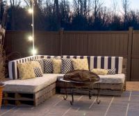 10+ best ideas about Pallet Outdoor Furniture on Pinterest
