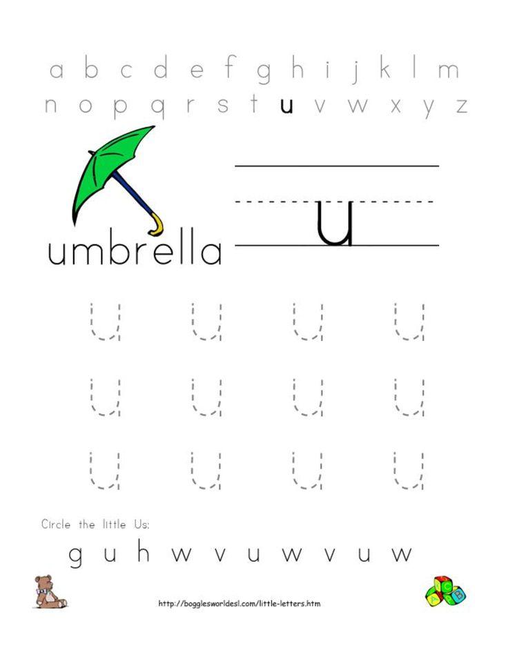19 Best images about Letter U Worksheets on Pinterest