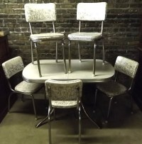Vintage c1950s Retro Chrome & Vinyl Dinette Kitchen Set