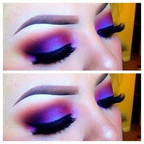 Love bright purple eyeshadow!