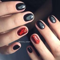 25+ best ideas about Short Red Nails on Pinterest | Casual ...