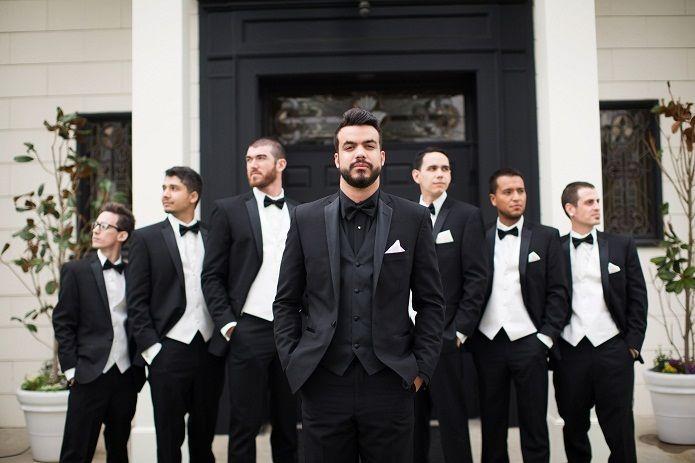 25 best ideas about Black groomsmen suits on Pinterest