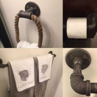 Pipe hand towel holder, towel rack and toilet paper holder ...