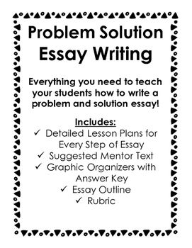17 Best ideas about Problem Solution Essay on Pinterest