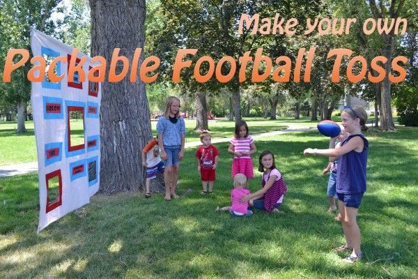 Easy DIY Football Toss Game Games football Toss it and Game