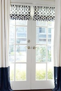 roman shades for french doors - Home Decor
