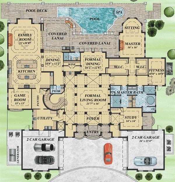 Top 25+ best Mediterranean house plans ideas on Pinterest