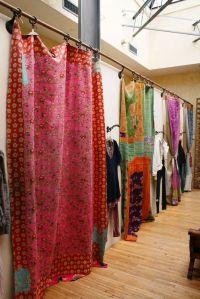 boho curtains, Free People fitting rooms | yoga studio ...