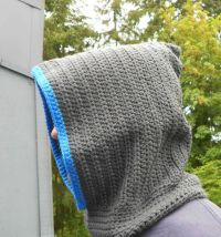 Crochet Mens Hooded scarf Crochet Mens Scoodie by ...