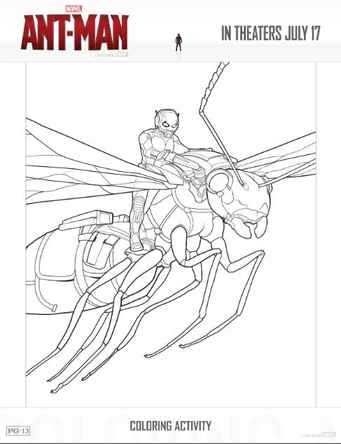Free Ant-Man Printable Coloring Sheets & Games #AntMan