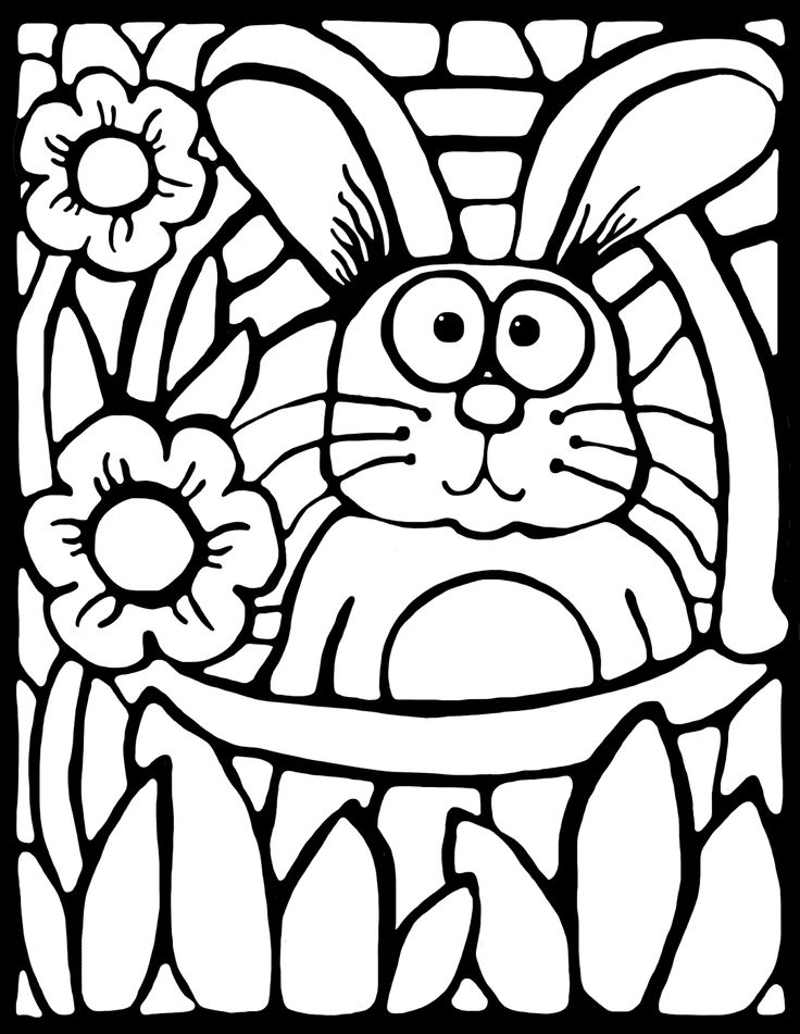 FREE! Grab this cute stained-glass style coloring activity