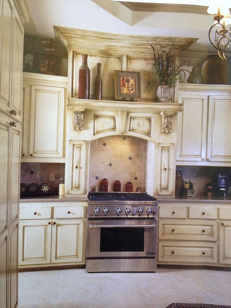 25 best ideas about Antiqued kitchen cabinets on