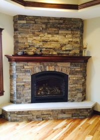 Best 25+ Corner stone fireplace ideas on Pinterest