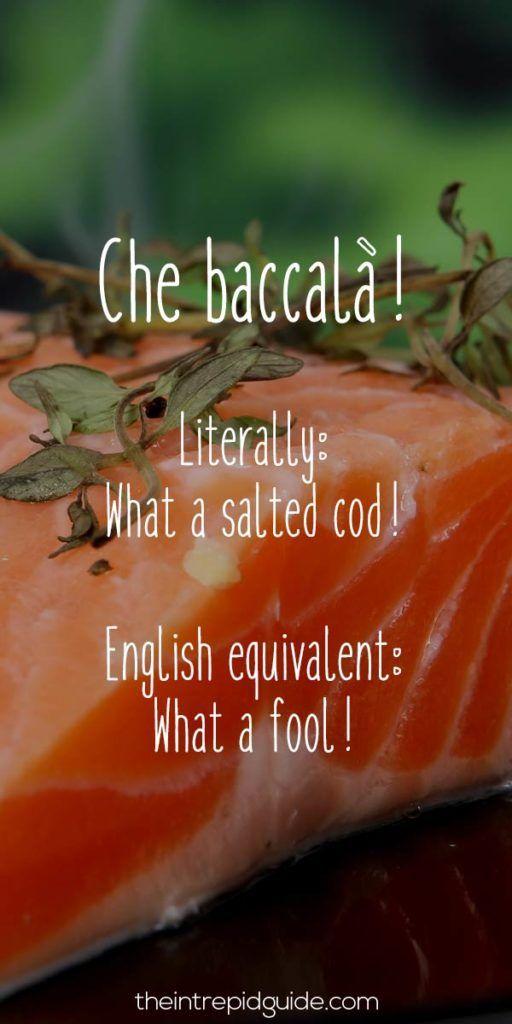 Italian Food Sayings Phrases