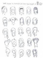 cute art hairstyles chibi