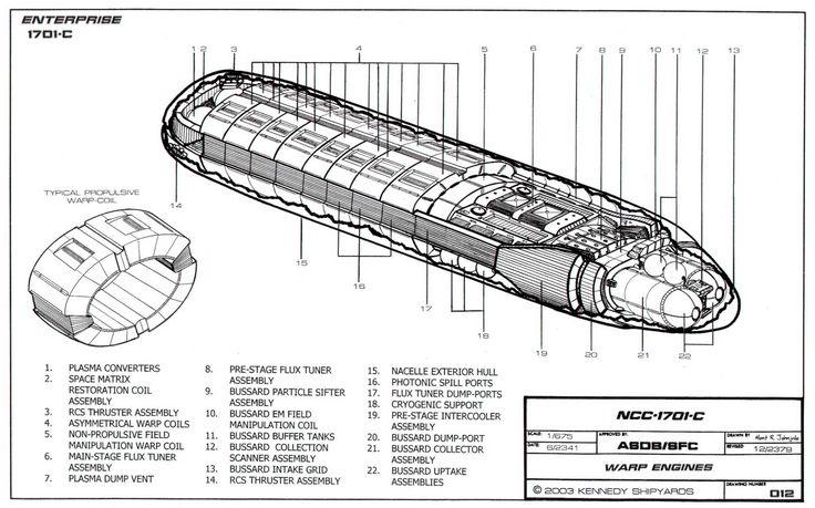 Star Trek Warp Engine Diagram Star Trek USS Enterprise