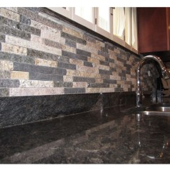 Remodel Small Kitchen Countertop For Mixed Color Thin Stone Veneer As A Backsplash In ...