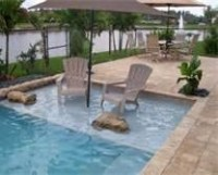 Inground pool idea- instead of stairs, create wading area ...