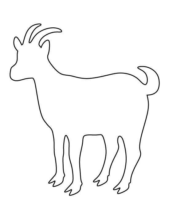 Goat pattern. Use the printable outline for crafts