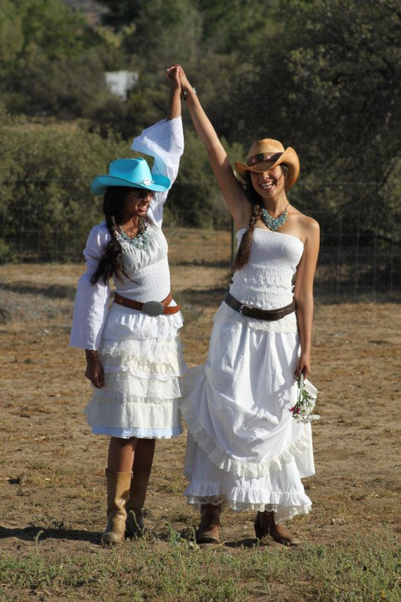 Listing for Johanna  Country Western  Prairie Cowgirl Wedding dress in White with Ivory Lace