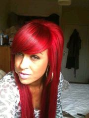hair color bright red