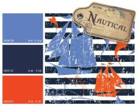 nautical color scheme, nautical color trends, blue and ...