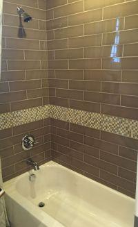Brown Glass Subway Tile for Bathroom Shower