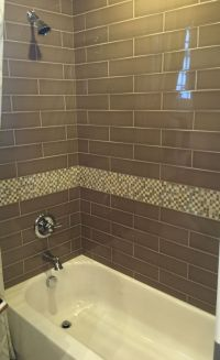 Brown Glass Subway Tile for Bathroom Shower | Home ...