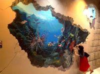 3d painted walls | Mr.Shin isgraduated from Hongik ...