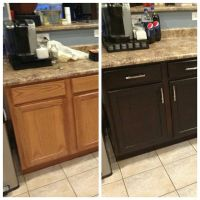 Re-staining of cabinets | Kitchen | Pinterest | Cabinets ...