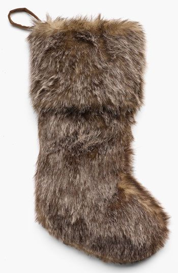 Sage  Co Faux Fur Stocking  Nordstrom  GIFT WRAPPING