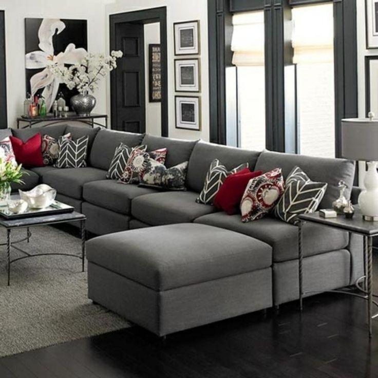 deko kissen wohnzimmer wohnzimmer grau braun elegantes