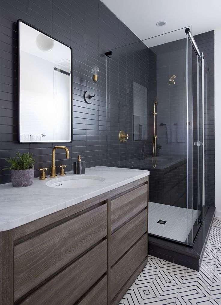 25 Best Ideas about Black Tile Bathrooms on Pinterest