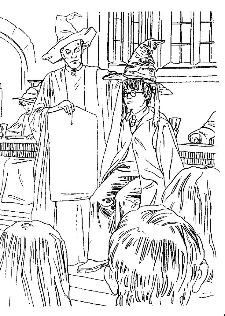 224 best images about Coloriage HARRY POTTER on Pinterest