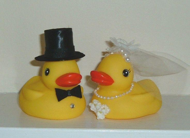 Decoraterubberduckbrideandgroom  RUBBER DUCKY Duckies Wedding Cake Toppers Bride Groom