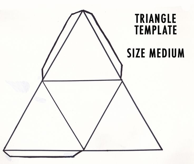 25+ best ideas about Triangle Template on Pinterest