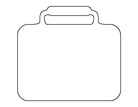 Lunchbox pattern. Use the printable outline for crafts