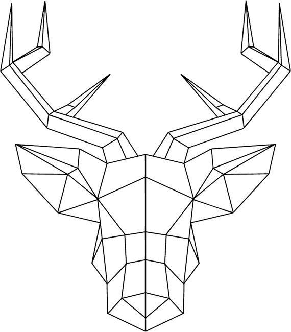 Best 25 Geometric Deer Ideas