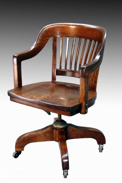 antique office chair SOLD Tiger oak Lawyer's Curved Back Office Chair | Lawyers