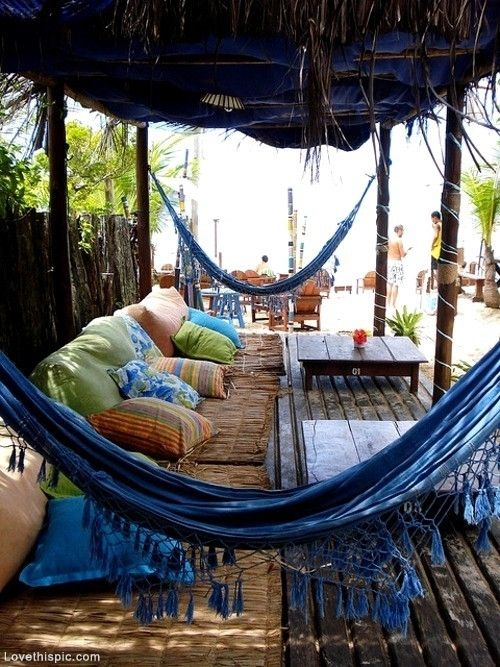 Boho on the Beach beach hippy hammock camp boho hut