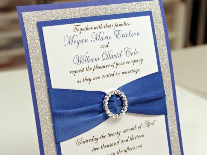Navy Blue Wedding Invitation Kits