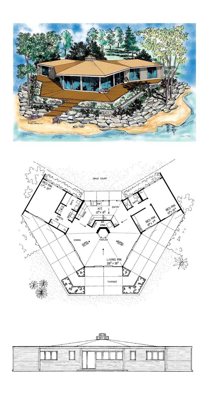 1000 images about Octagon Style House Plans on Pinterest  House plans Change 3 and Sweet