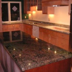 Kitchen Cabinet Ideas For Small Kitchens Single Bowl Undermount Sink Kangaroo Granite Countertops | Vibrant Red ...