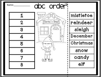 33 best images about ABC order sheets on Pinterest
