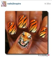 tiger nail art. art love