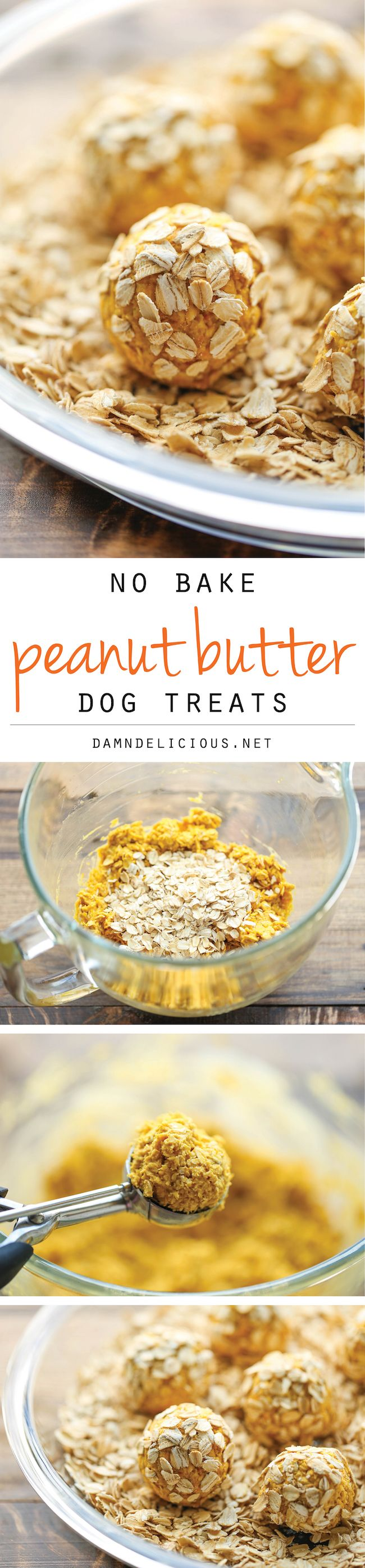 No Bake Peanut Butter Dog Treats – Easy peasy 4-ingredient treats that are sure to be your pup's favorite. And you can whip these