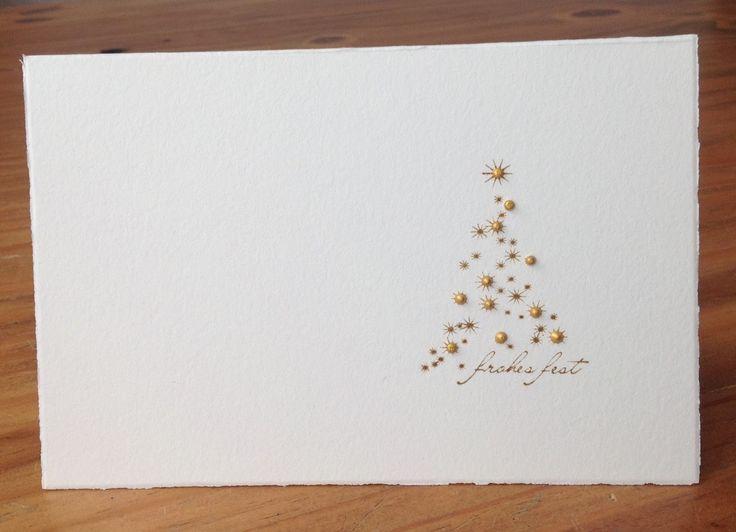Die Schlichte Karte Kleiner Weihnachtsbaum Stempel