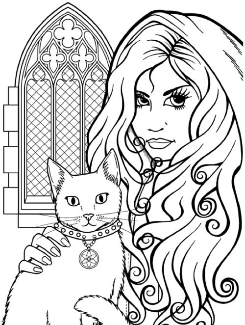 118 best images about Goth Coloring Page on Pinterest