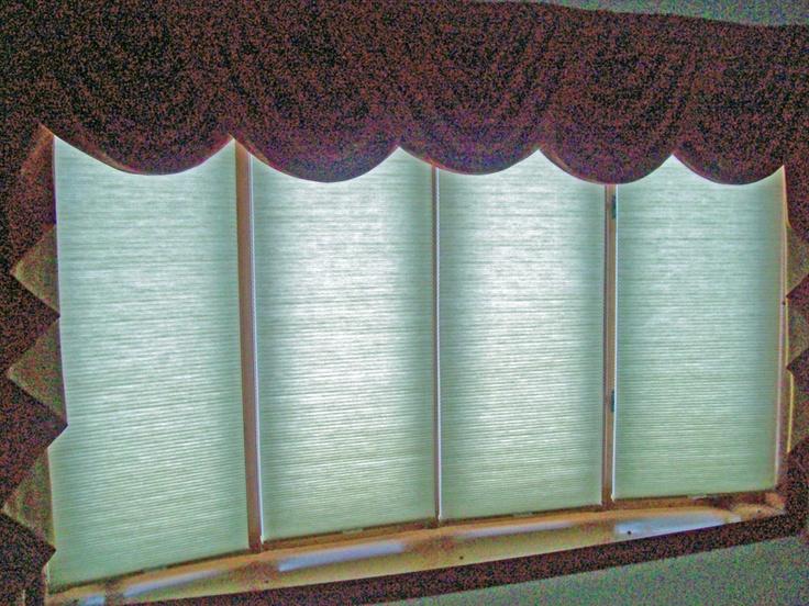 Cordless Cellular Shades On 4 Window Bow  Window