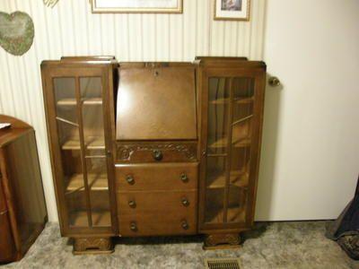 Antique Side by Side Secretary Desk Oak Excellent
